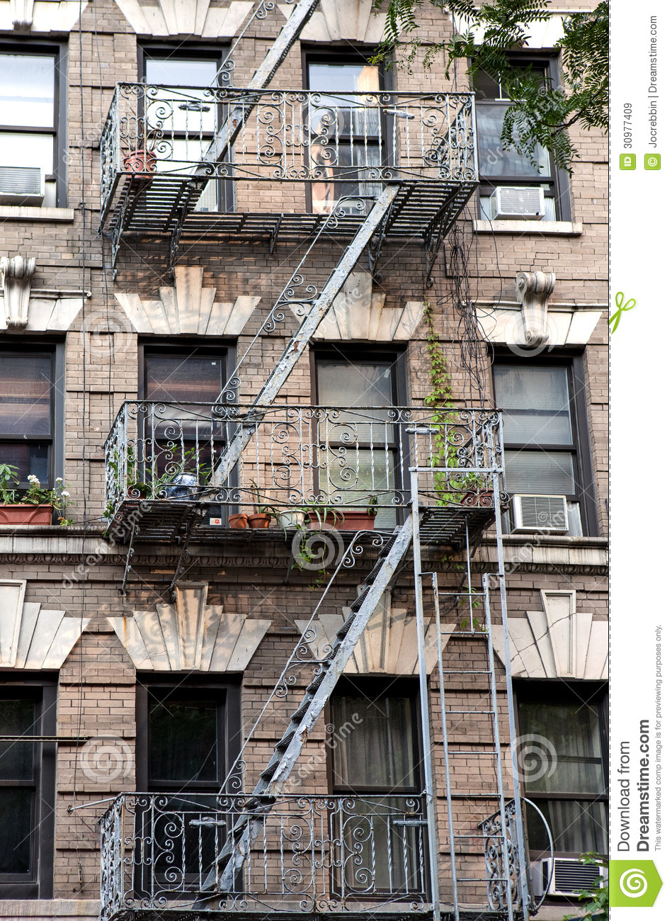 New York City Village Apartment Building With Plants On