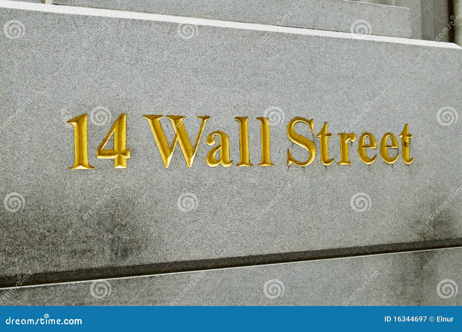 New York City Wall Street e troca conservada em estoque