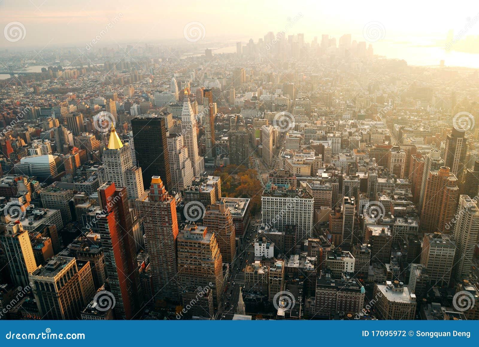New- York Citysonnenuntergang