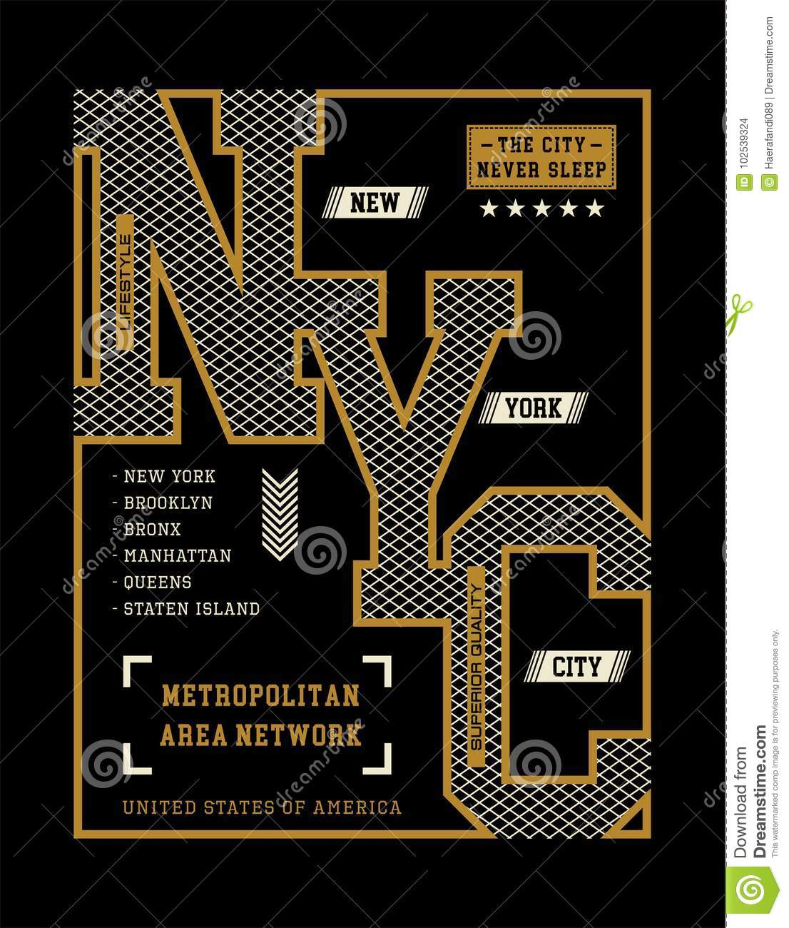 New- York Cityt-shirt Grafik, Vektor-Bilder