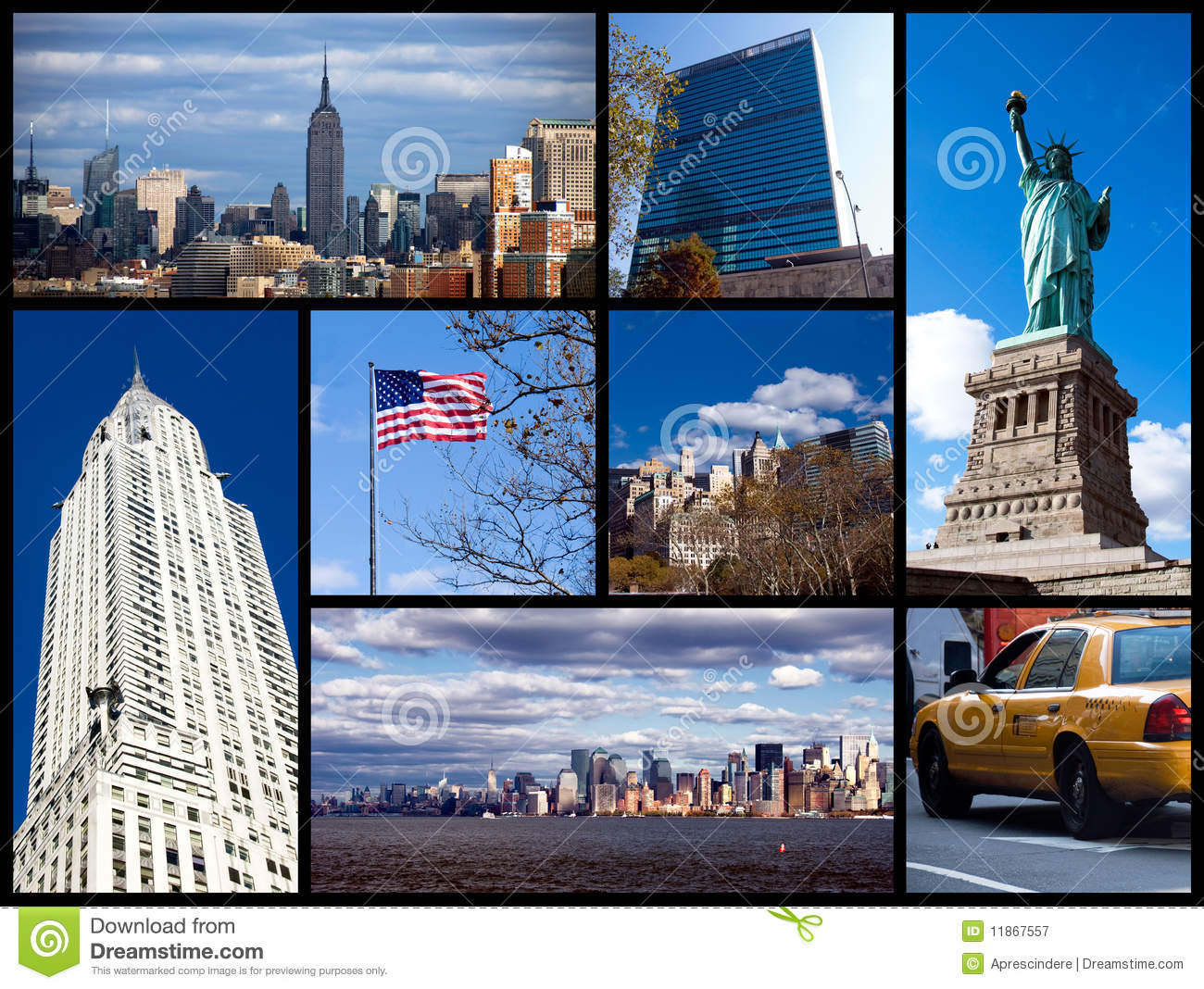 new york collage stock image image of empire blue architecture 11867557. Black Bedroom Furniture Sets. Home Design Ideas