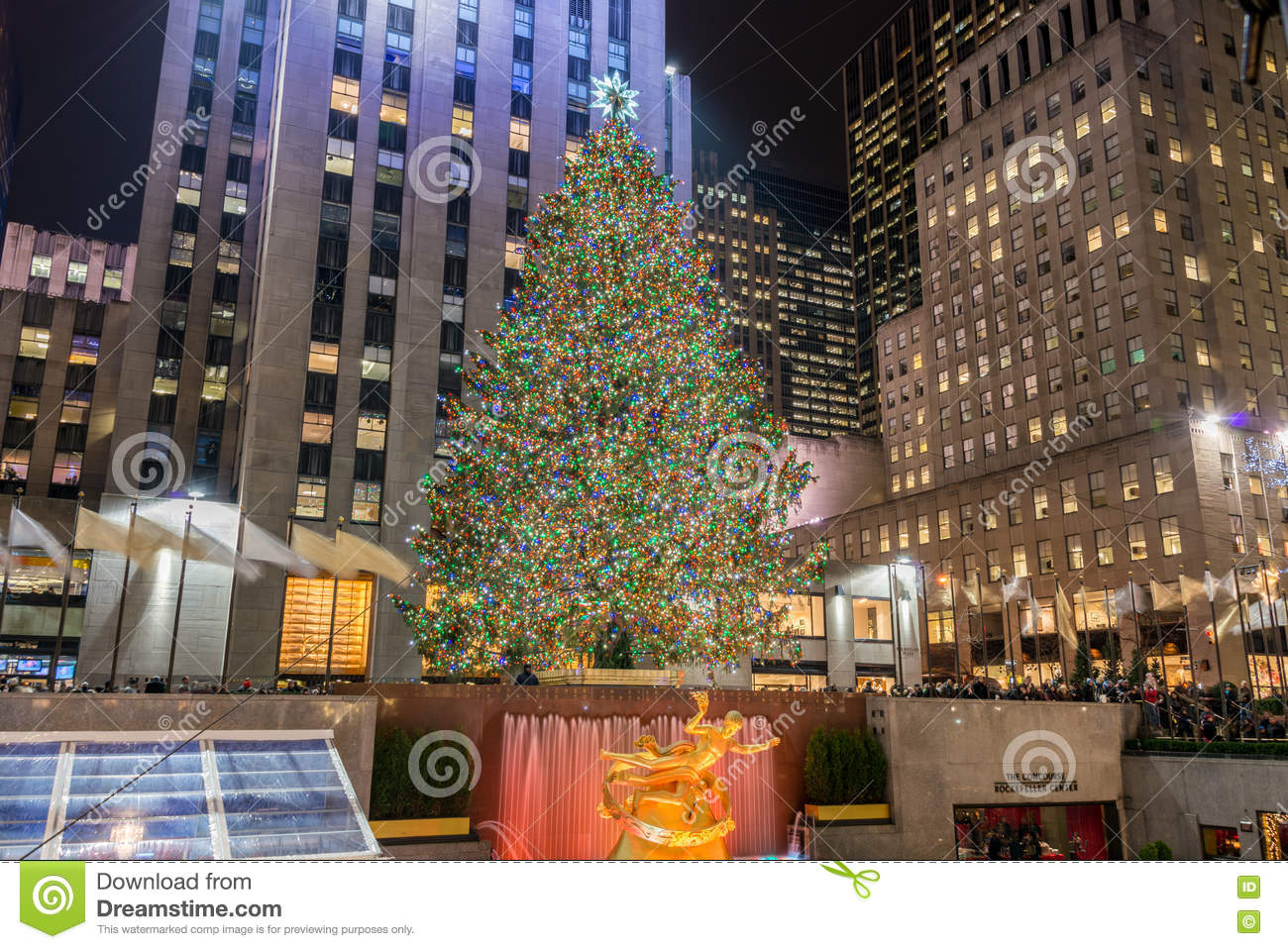 Weihnachtsbaum New York Stock Photos - Royalty Free Images
