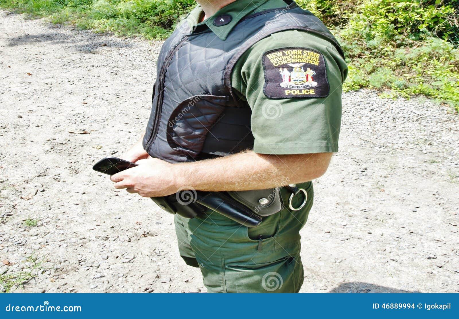 new york enviromental concervation officer uniform stock photo