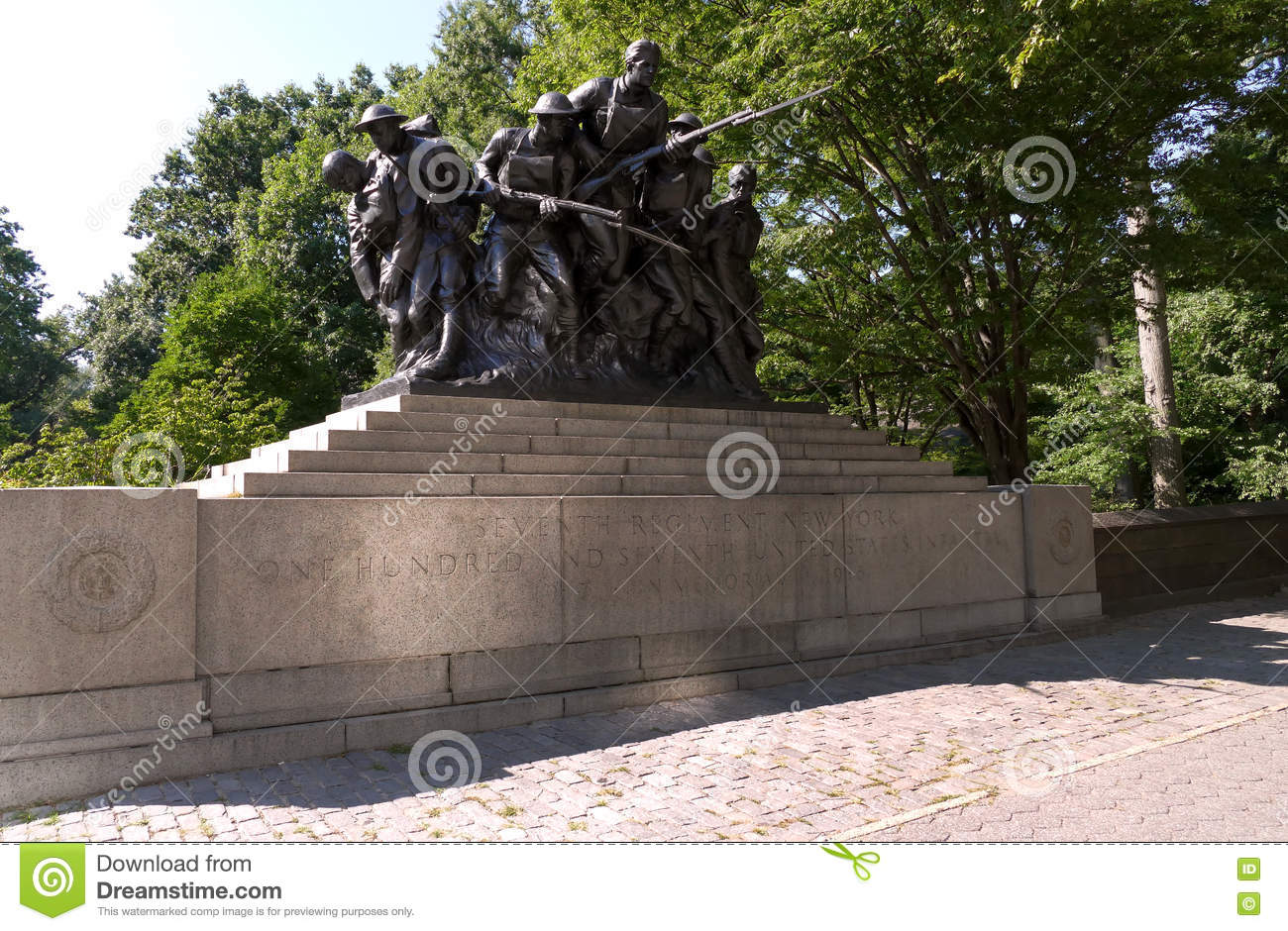 NEW YORK, ETATS-UNIS - 25 août 2016 : Mémorial de WWI pour le 7ème régiment de la milice de New York - USA 107TH, New York