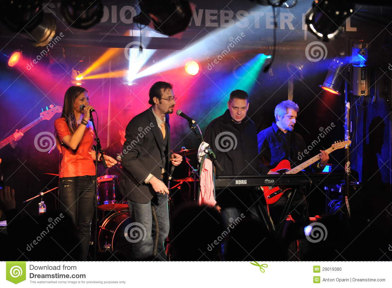 NEW YORK- FEBRUARY 27: Music group Inside Pocket performs on stage during Russian Rock Festival at Webster Hall