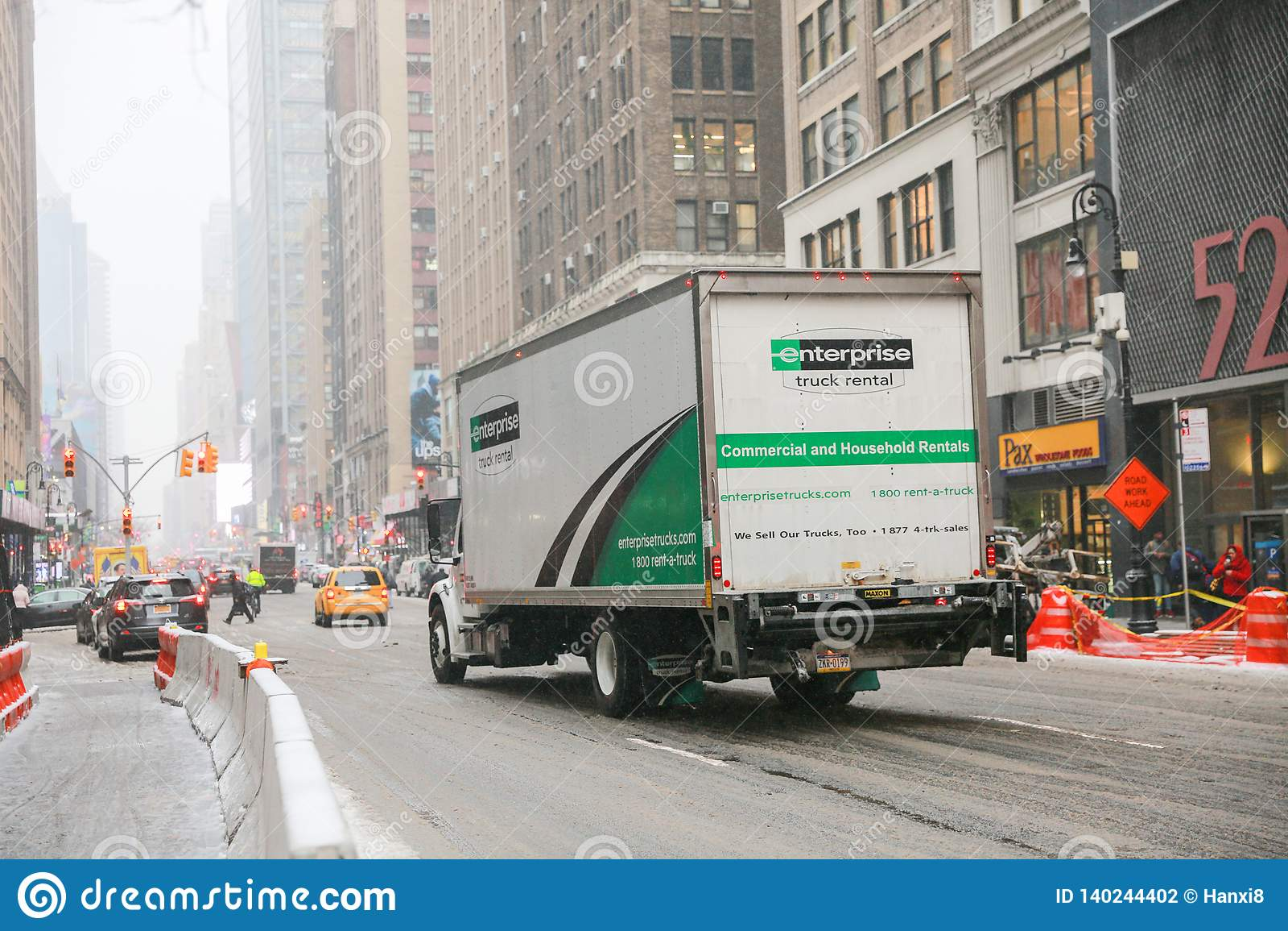 Enterprise Rental Truck In New York Editorial Photography