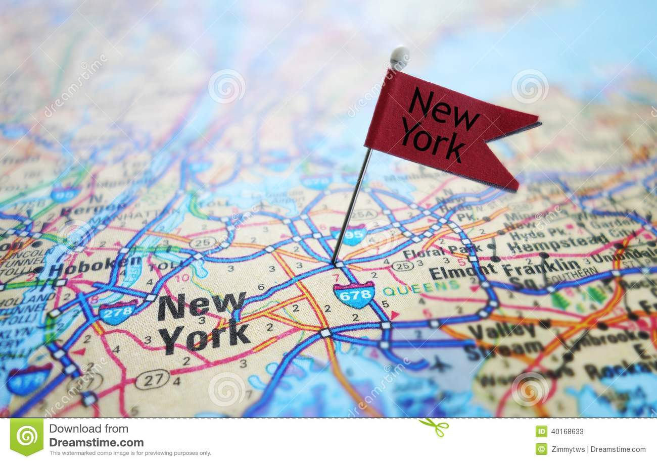 Map Of New York City For Tourists.New York Flag And Map Stock Image Image Of Tourism Travel 40168633