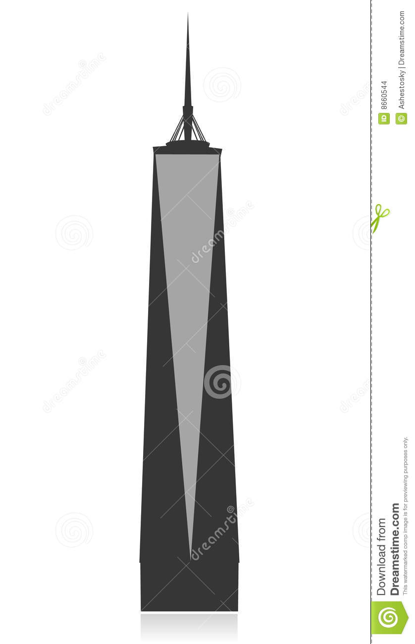 new york freedom tower vector stock images image 8660544 statue of liberty clipart black and white statue of liberty clip art drawings