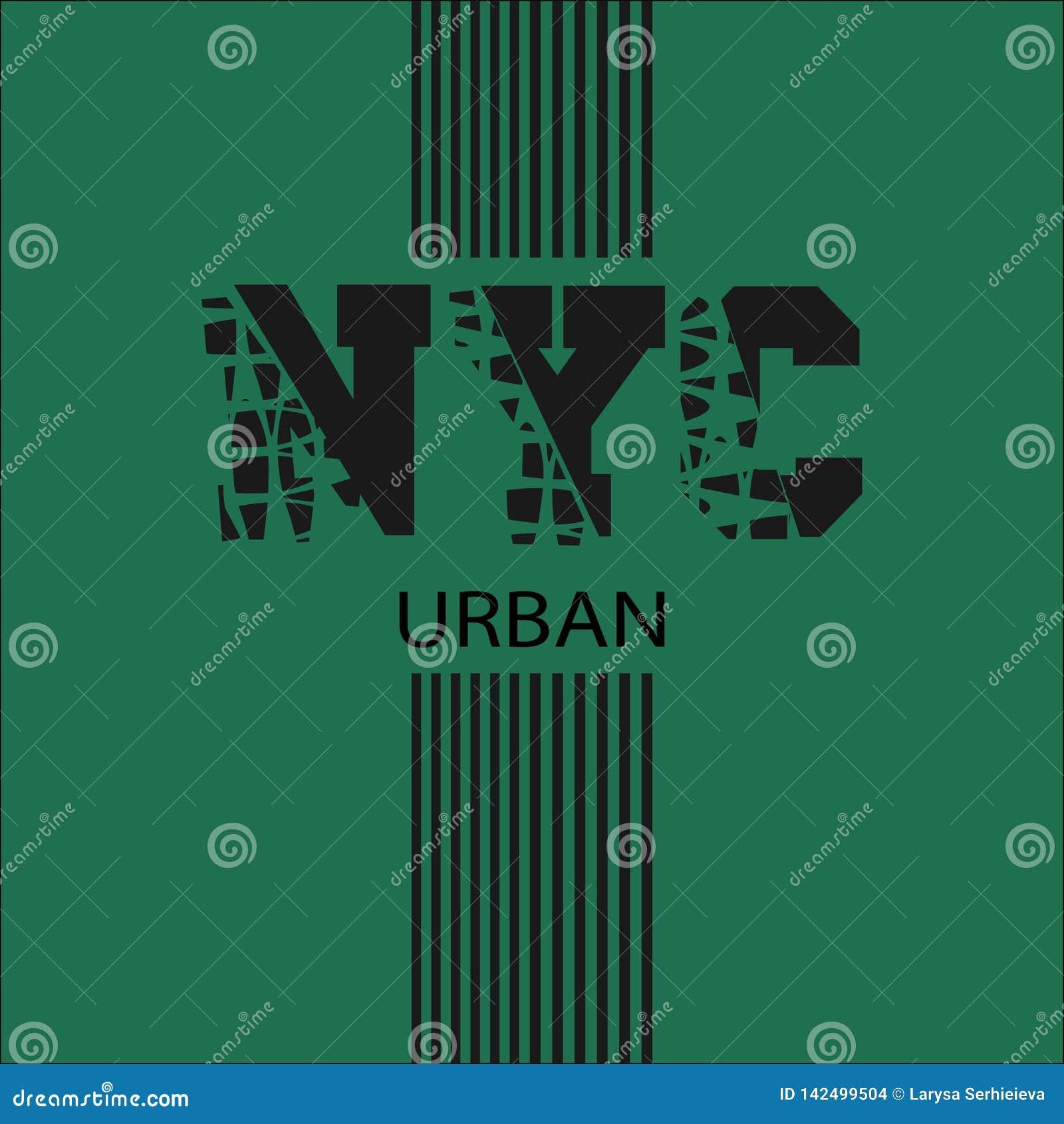 New York inskriften på T-tröja