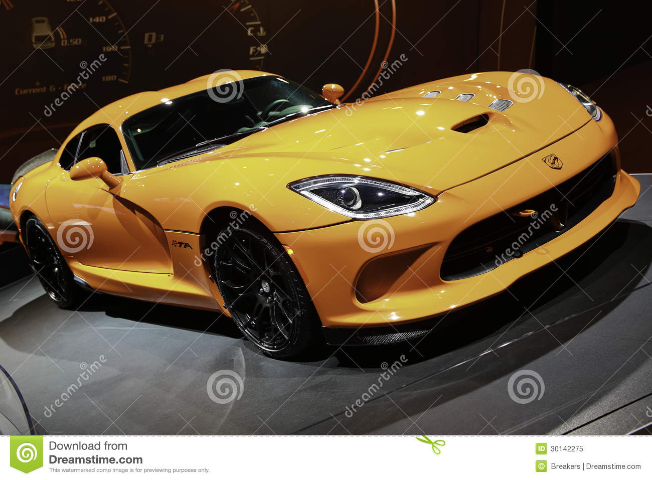 Download 2014 SRT Viper TA Showcased At The New York International Auto Show Editorial Image - Image of gray, desire: 30142275