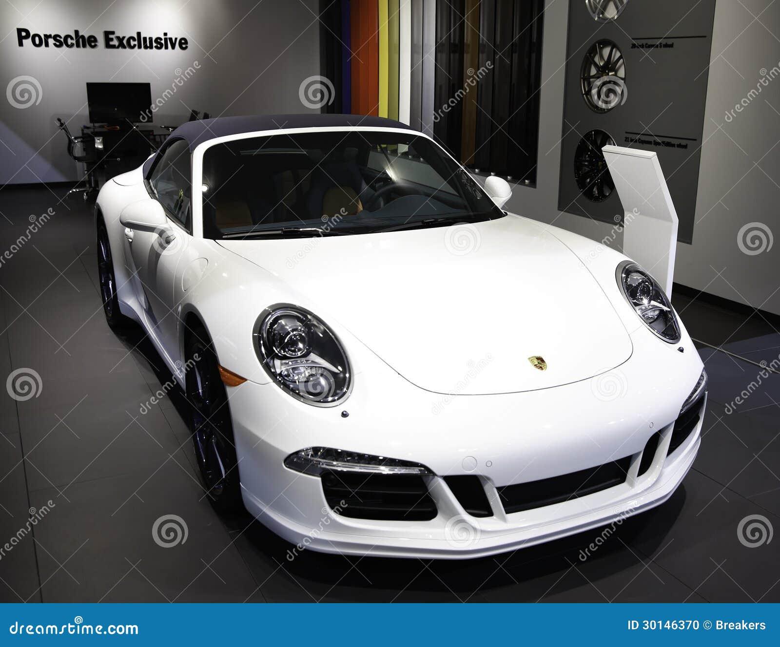 Porsche Car Show: Porsche Showcased At The New York Auto Show Editorial