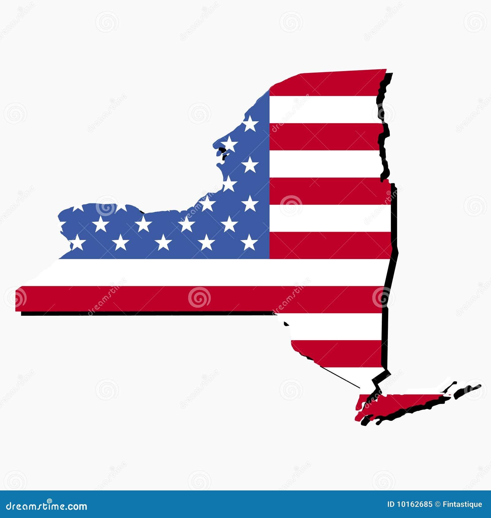 New York Map Flag Royalty Free Stock Photo - Image: 10162685