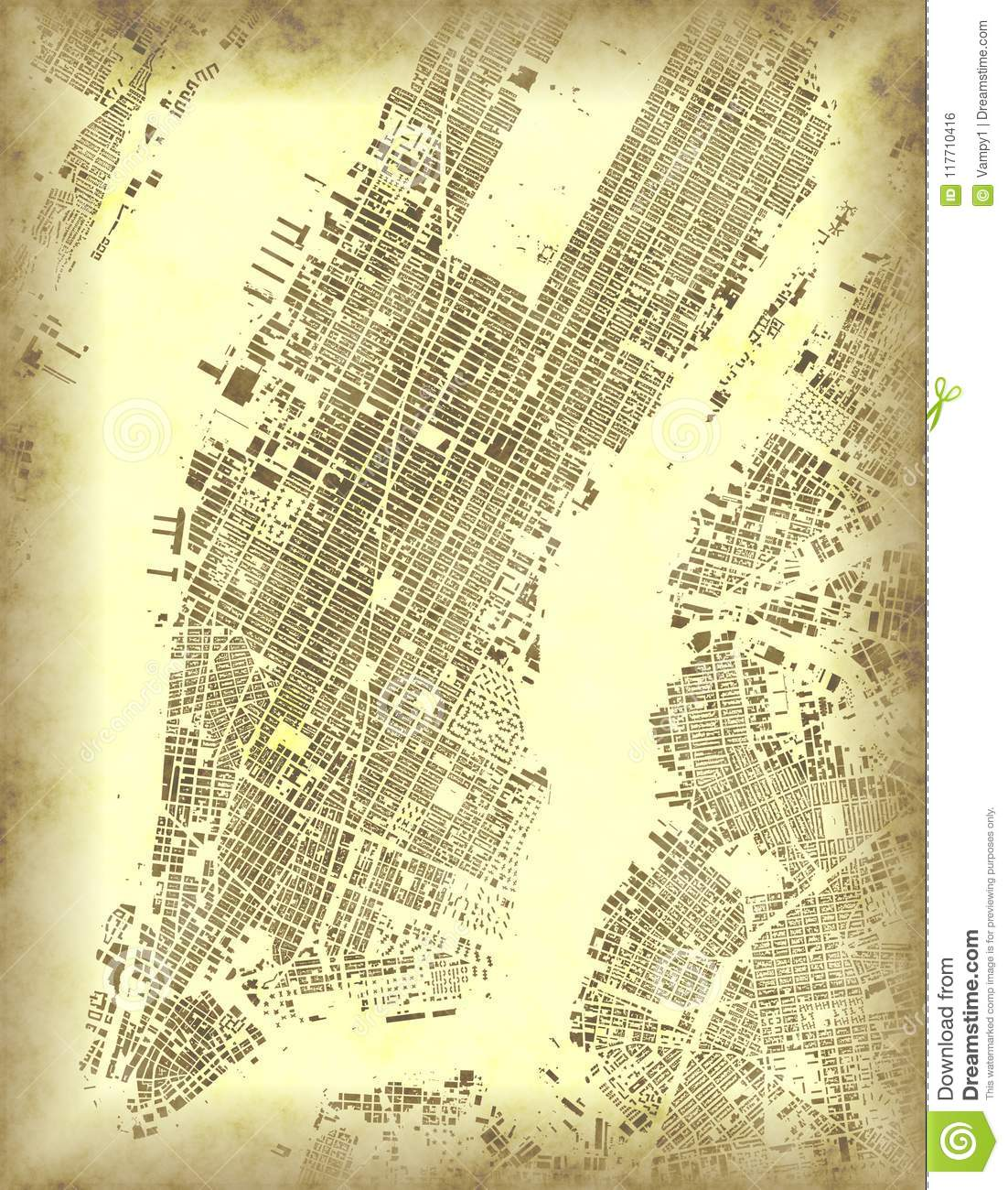 Old Map Of New York.New York Map Satellite View Usa Old Map Of Manhattan Stock
