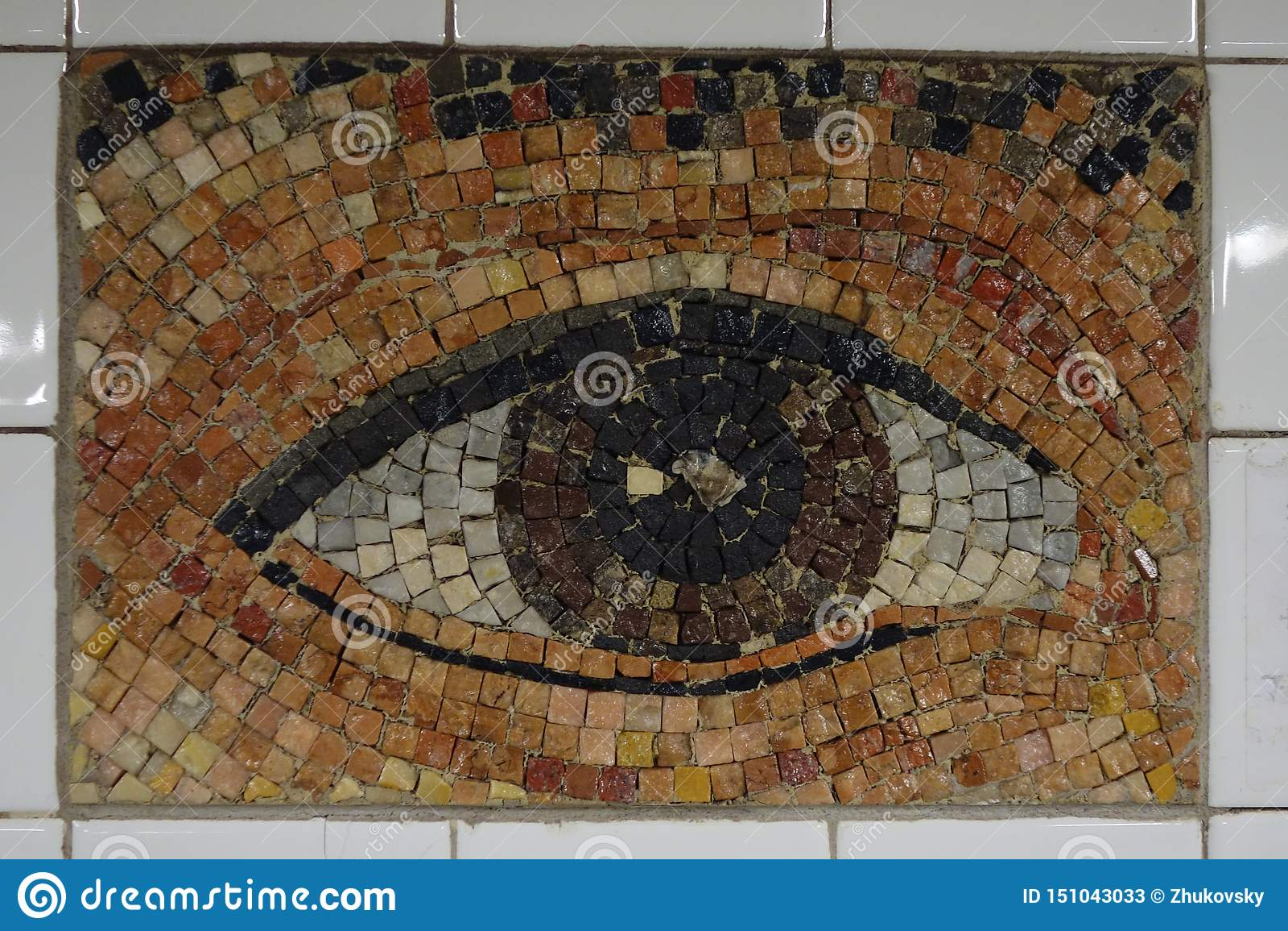 Subway Artwork `Oculus` at Chambers Street Subway station in Manhattan