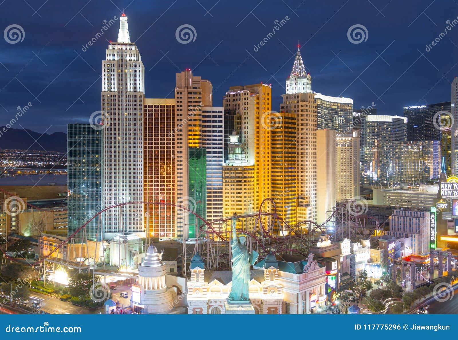 New York New York Hotel And Casino Las Vegas Nv Usa Editorial