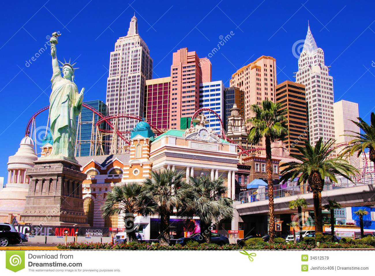 New york new york las vegas editorial stock image for Garden statues las vegas nv