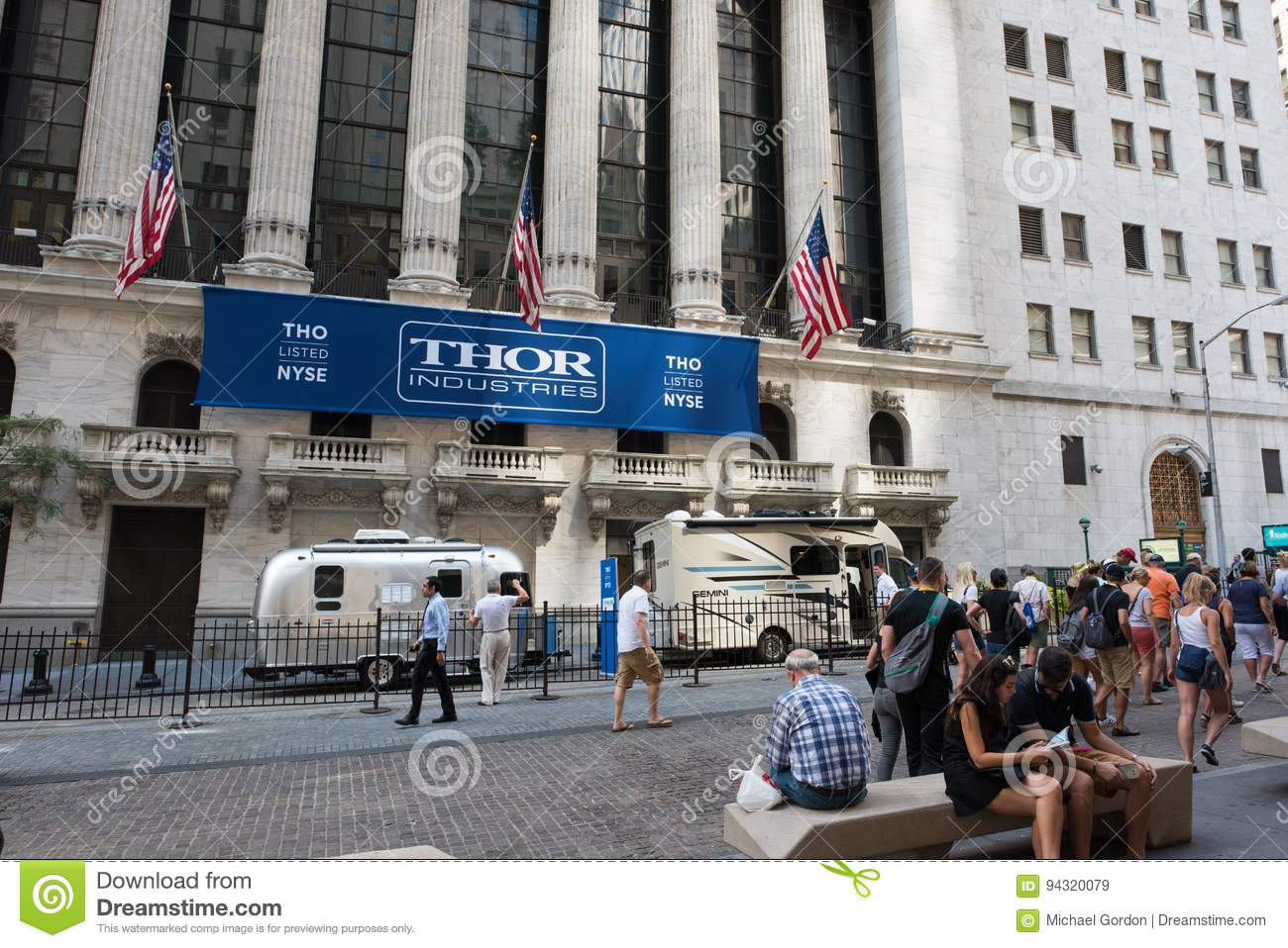 ae9b7427 New York, NY: August 27, 2016: Wall Street in NYC. The New York Stock  Exchange NYSE is the largest stock exchange in the world by market cap.