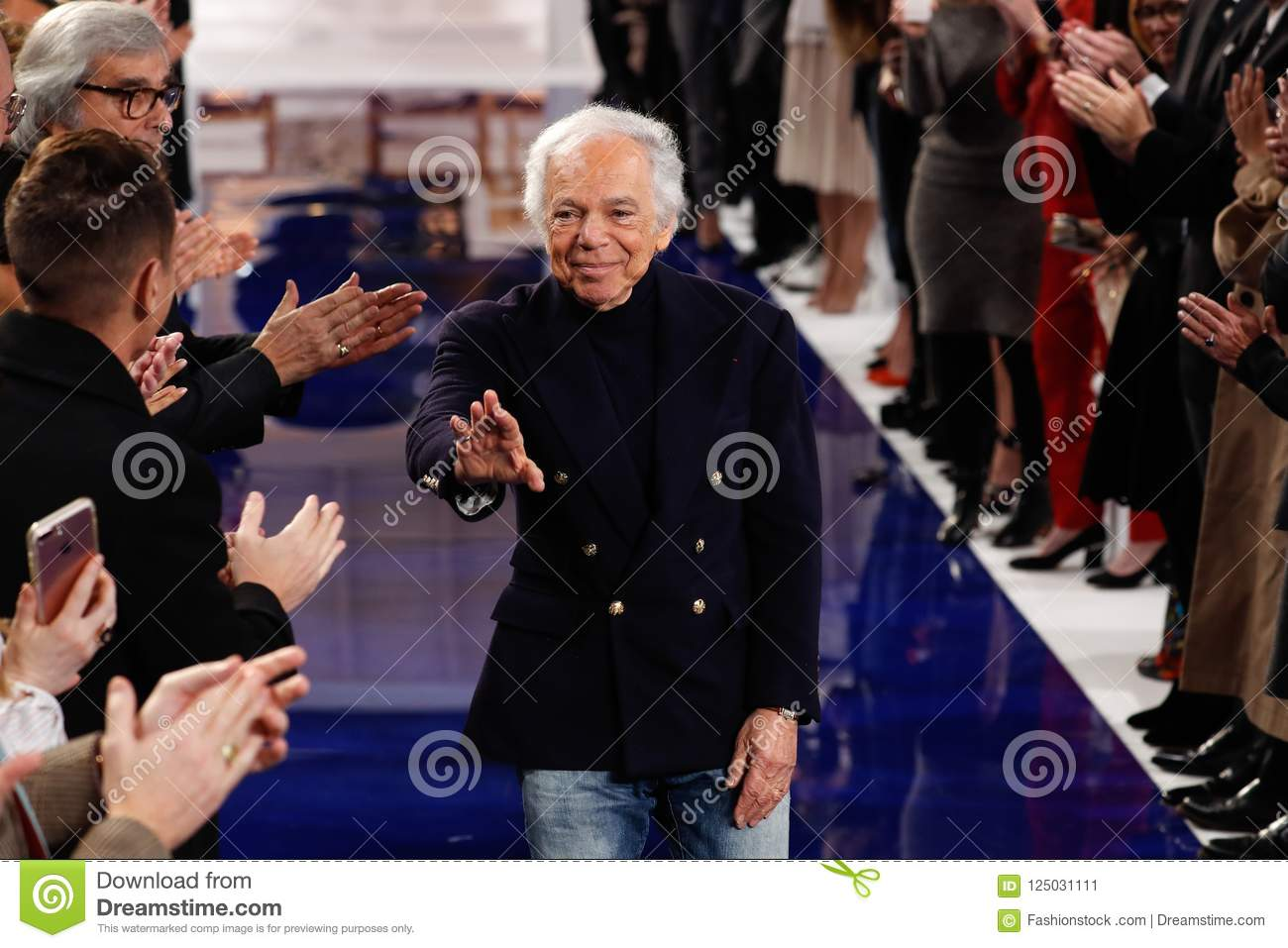 Designer Ralph Lauren Walks The Runway At Ralph Lauren Spring Summer 18 Fashion Show Editorial Photo Image Of Nautical Classic 125031111
