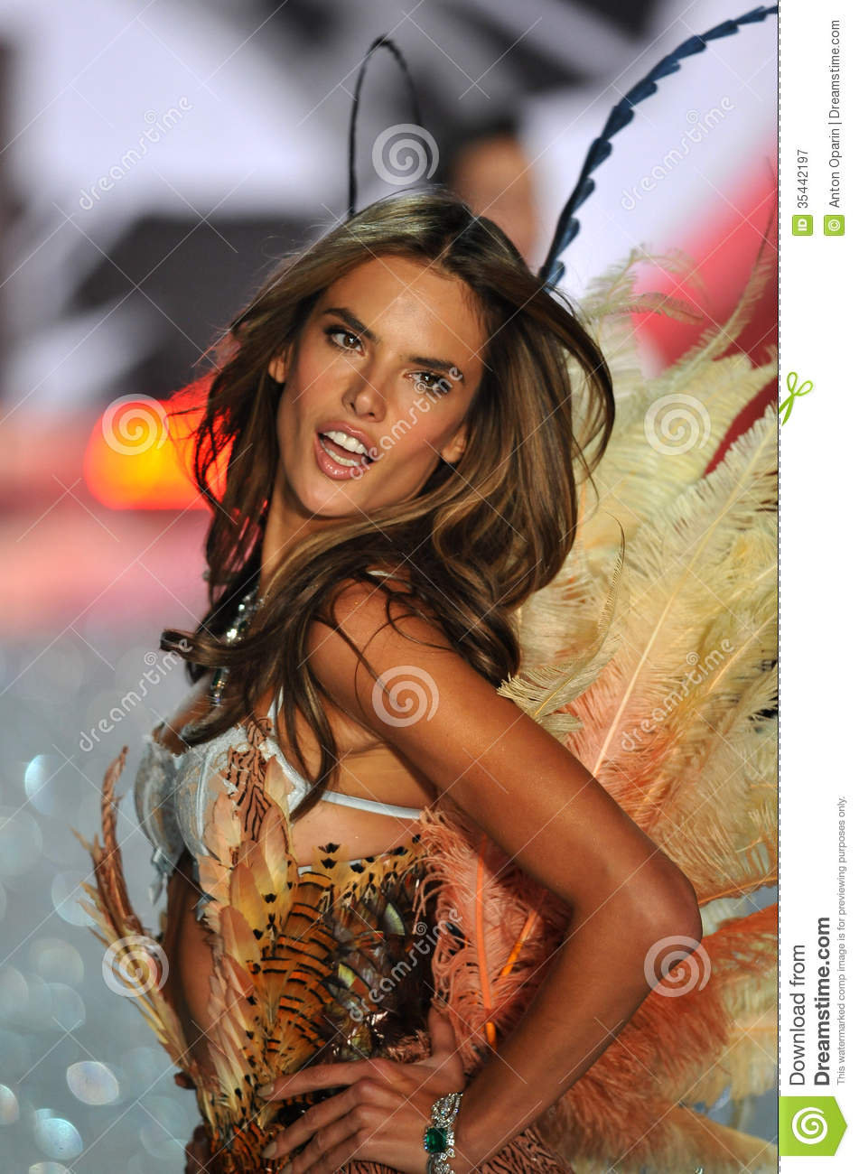 Walks in the 2013 victoria s secret fashion show editorial photography