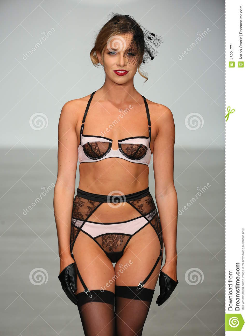 Lingerie fashion model