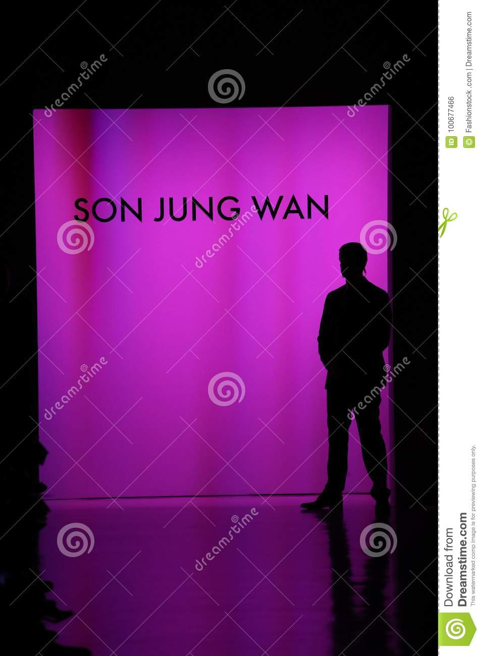 Runway Background At The Son Jung Wan Fashion Show Editorial Photo