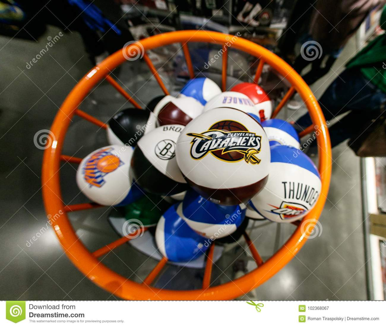 separation shoes d5639 449c3 NBA Team Branded Squeezable Balls Editorial Photography ...