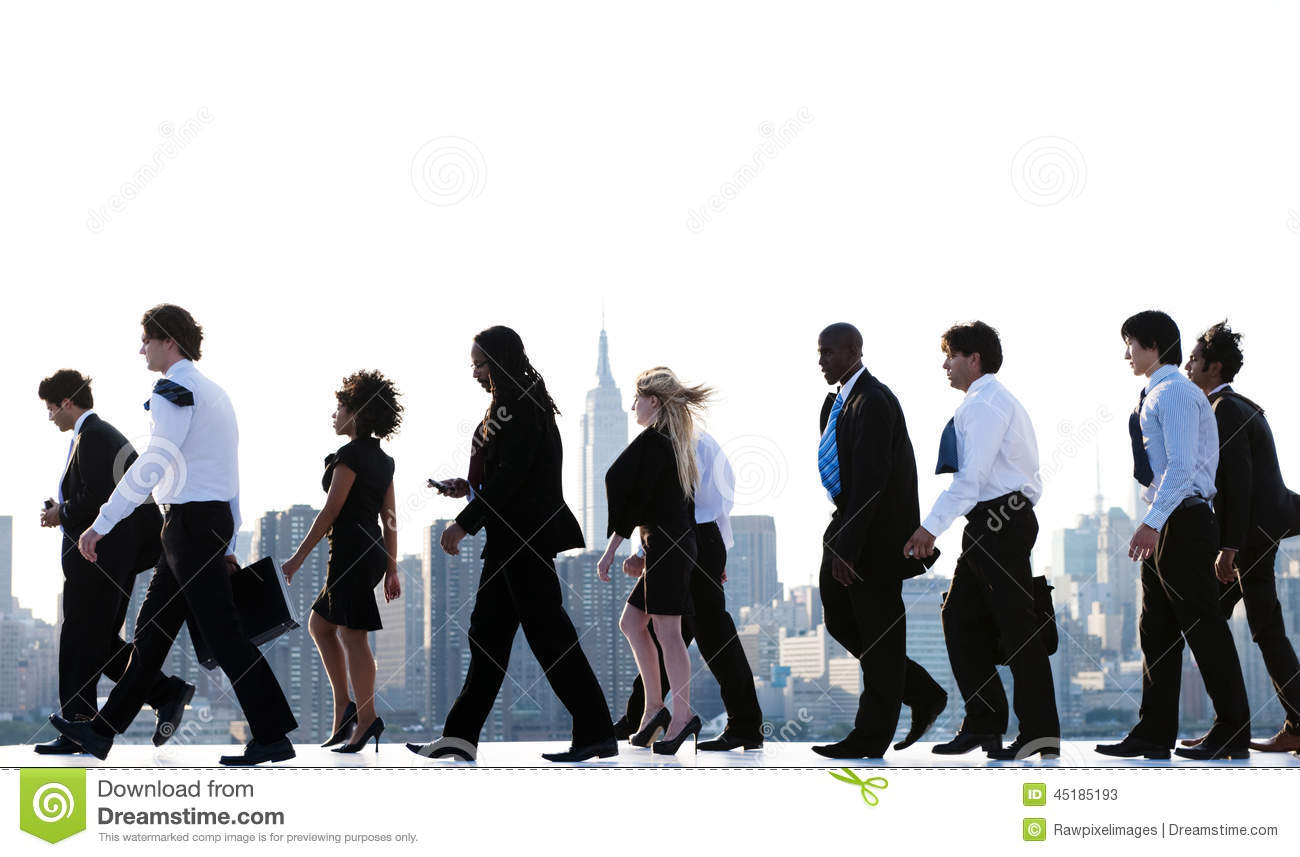 new york office workers daily commute stock photo image