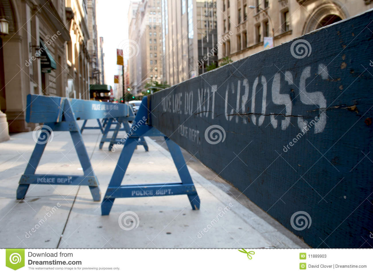 New York Police Picket Fence Stock Image Image Of Picket