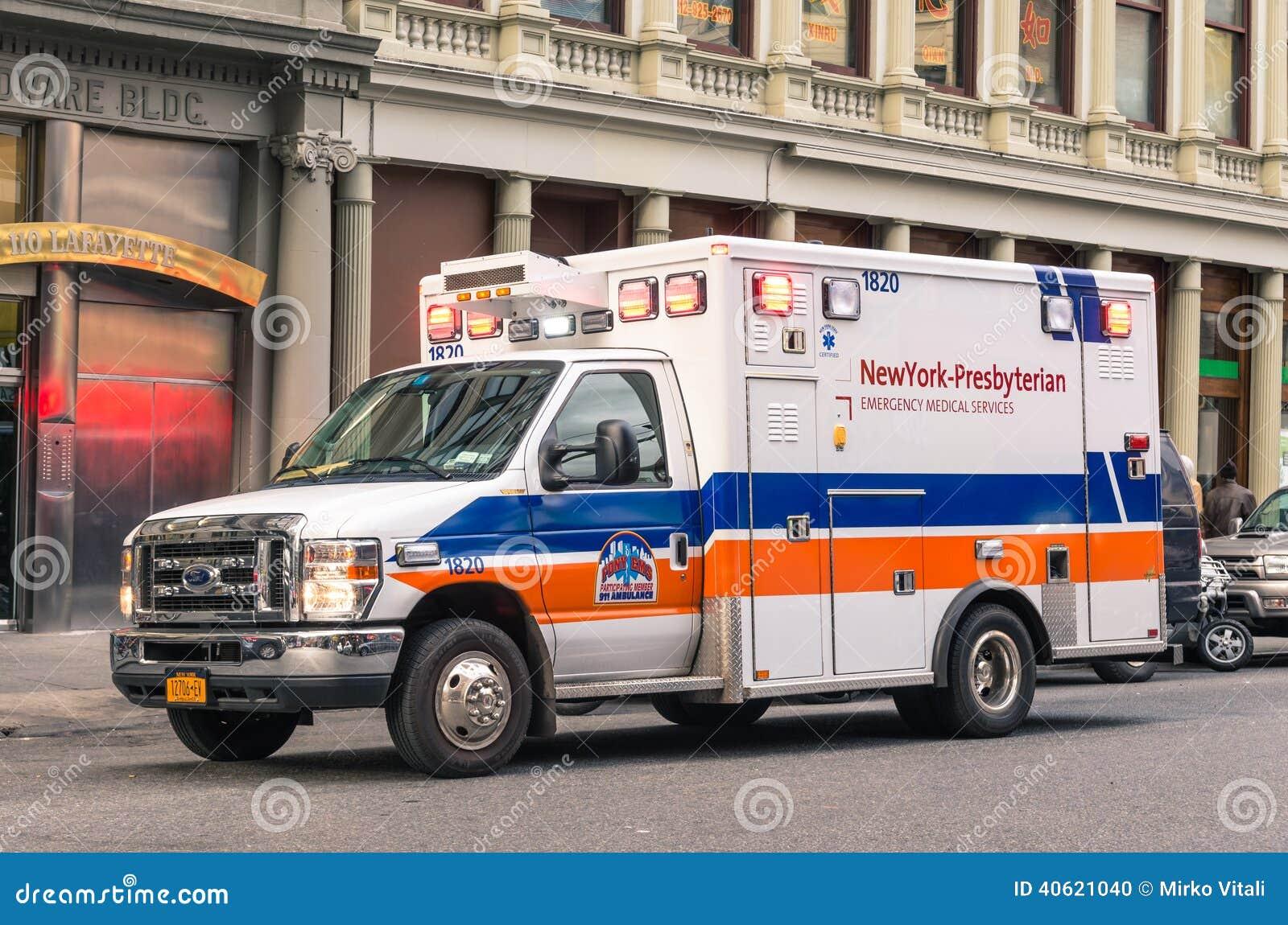 New York Presbyterian Hospital Van During Service