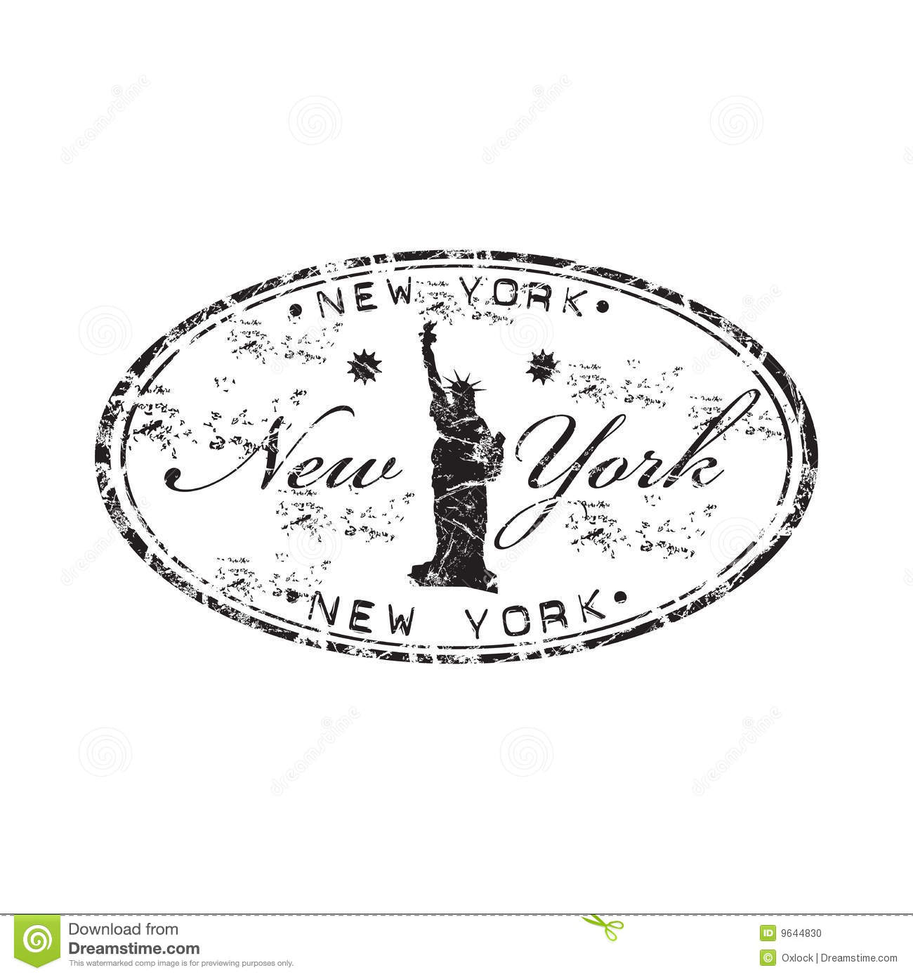 New york rubber stamp stock photo image 9644830 for New york state architect stamp