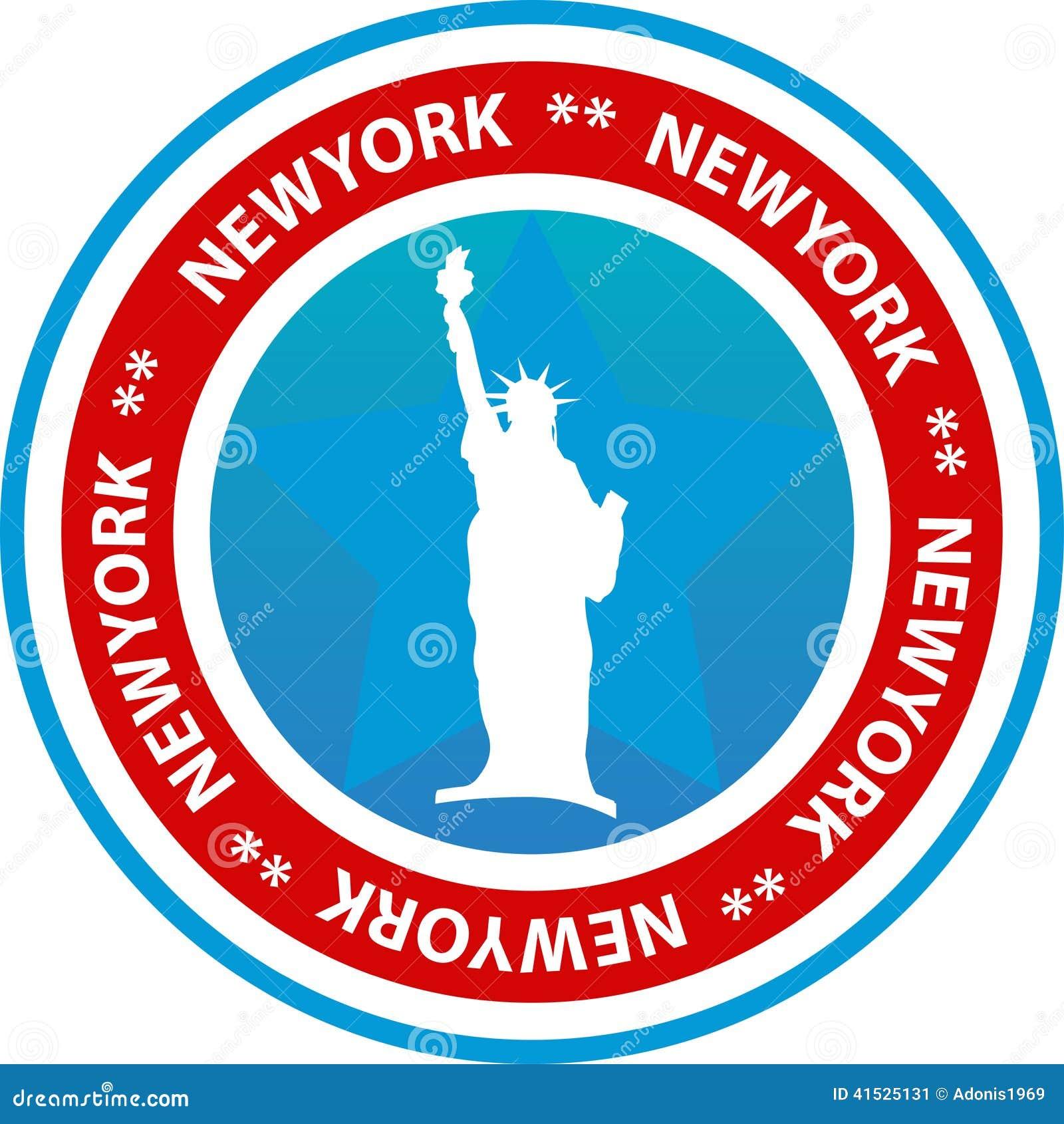 New York Seal Or Button Stock Vector - Image: 41525131