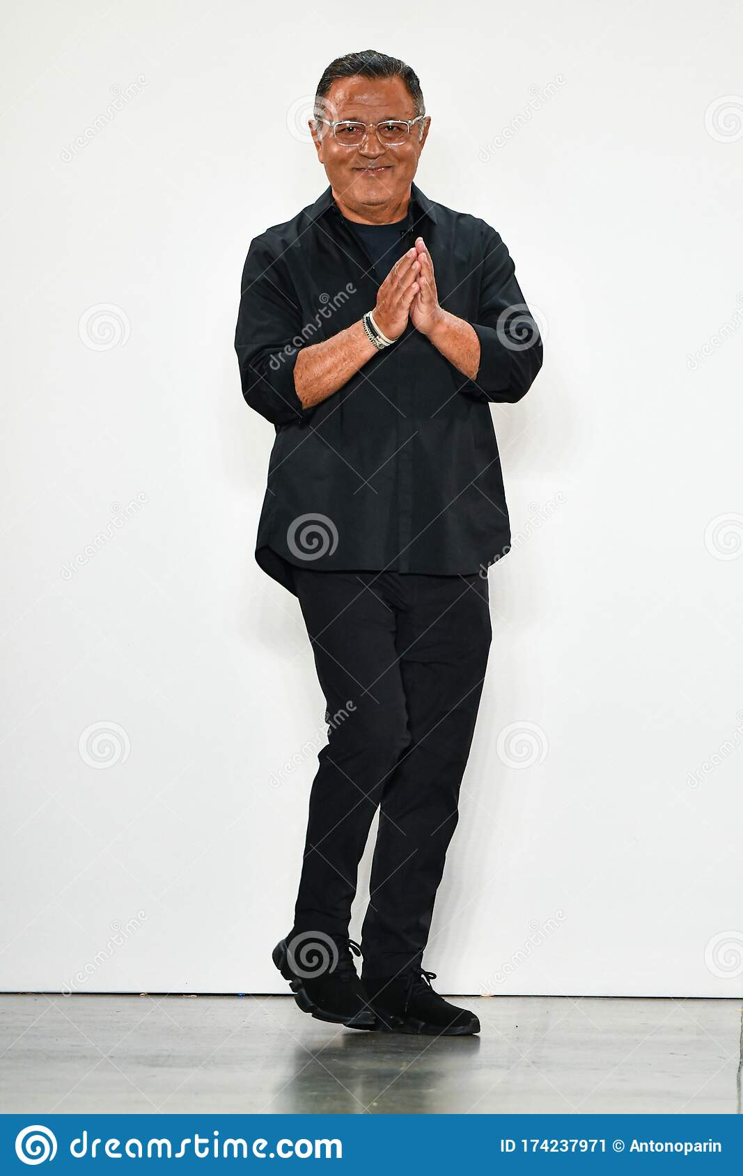 Designer Elie Tahari Greets The Audience After Presenting His Collection During New York Fashion Week Editorial Photo Image Of Menswear September 174237971