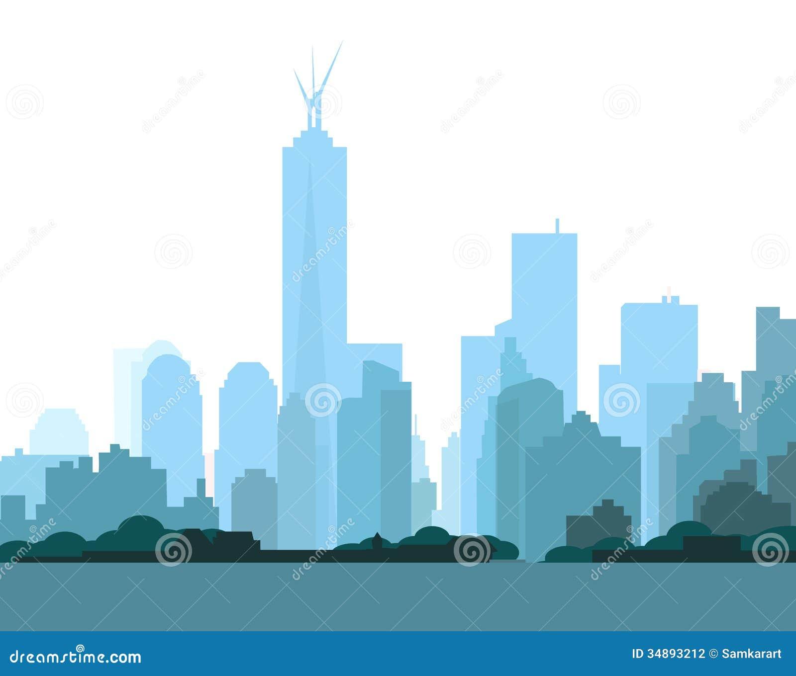 new york skyline stock vector  image of image  city  life