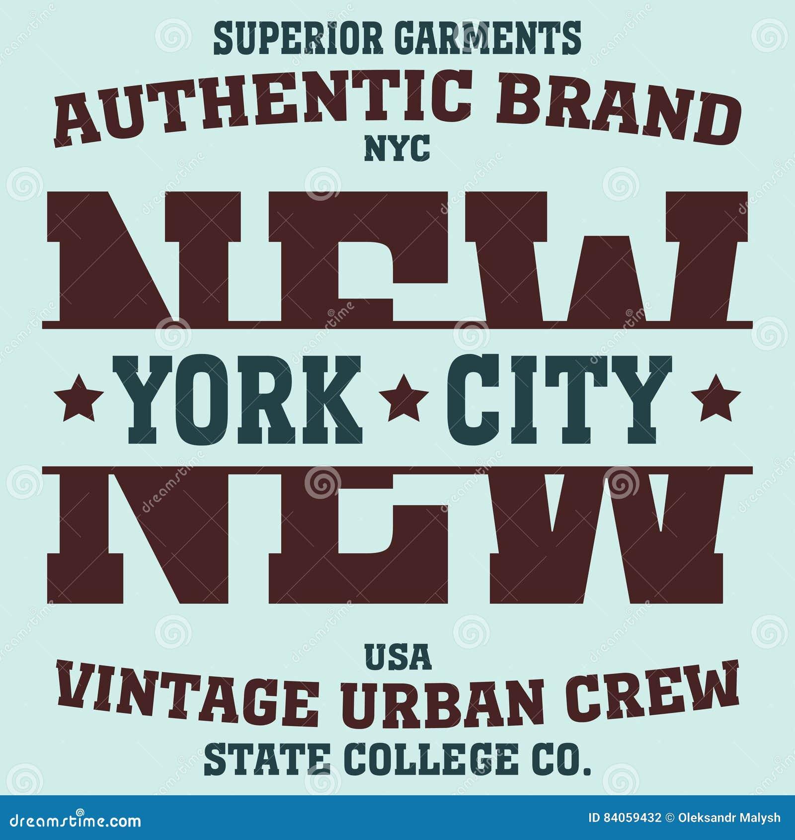 New York Sport T Shirt Stock Vector Illustration Of Athletic 84059432