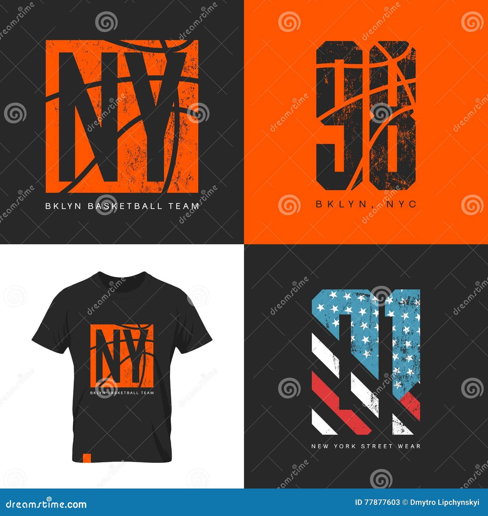 Design a t shirt nyc - Royalty Free Vector