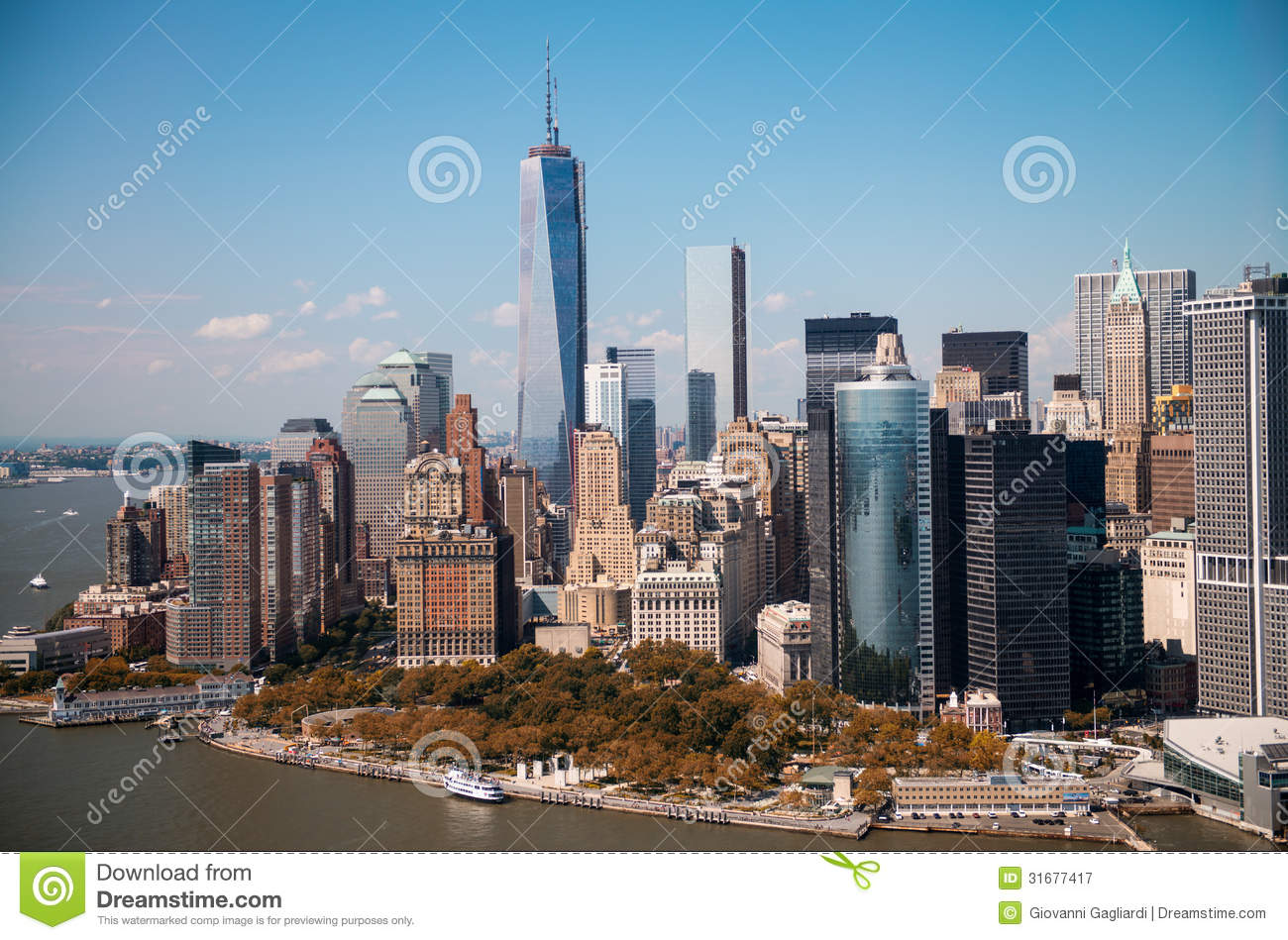 new york stunning helicopter view of lower manhattan skyline on stock image image of. Black Bedroom Furniture Sets. Home Design Ideas