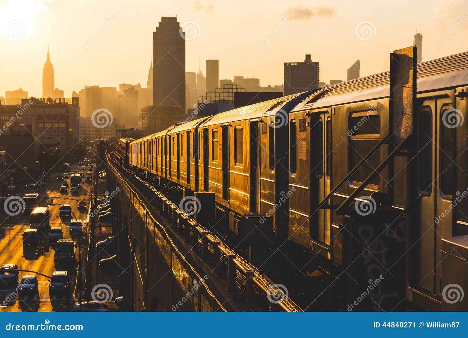 New York Subway Train Stock Image Image Of American 44840271