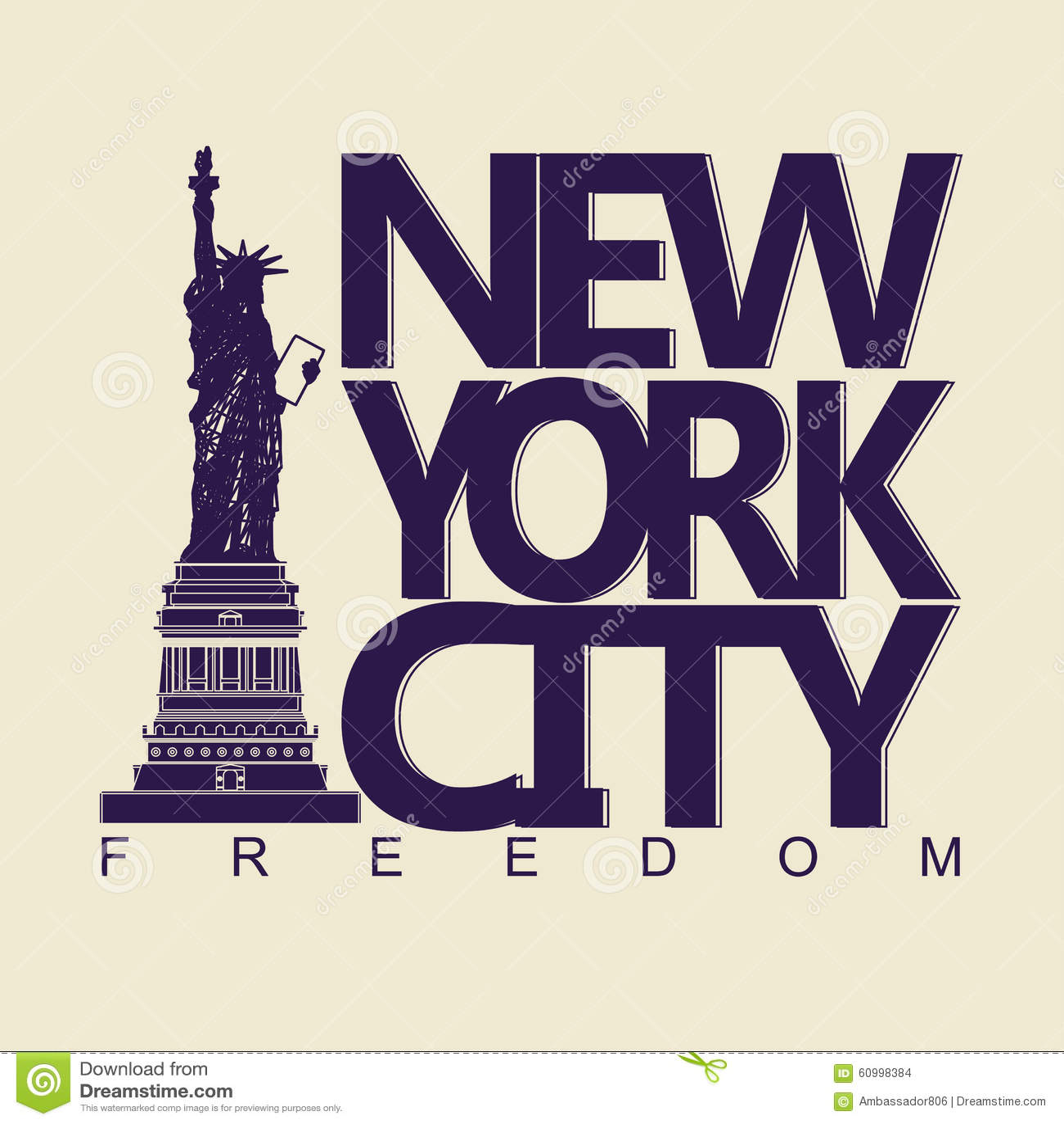 New York T Shirt Stock Vector Illustration Of Island 60998384
