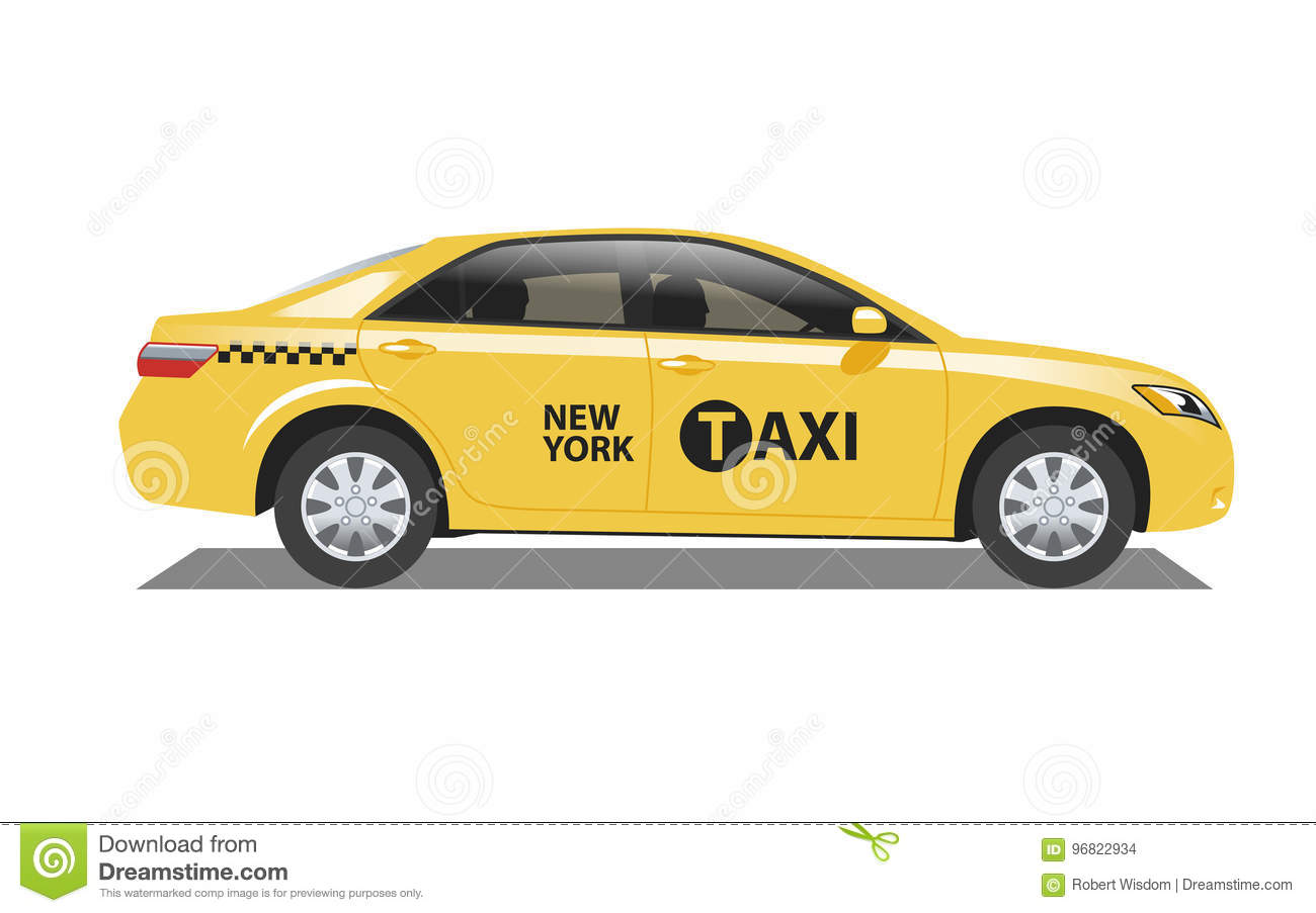 New York Taxicab stock vector  Illustration of yellow - 96822934