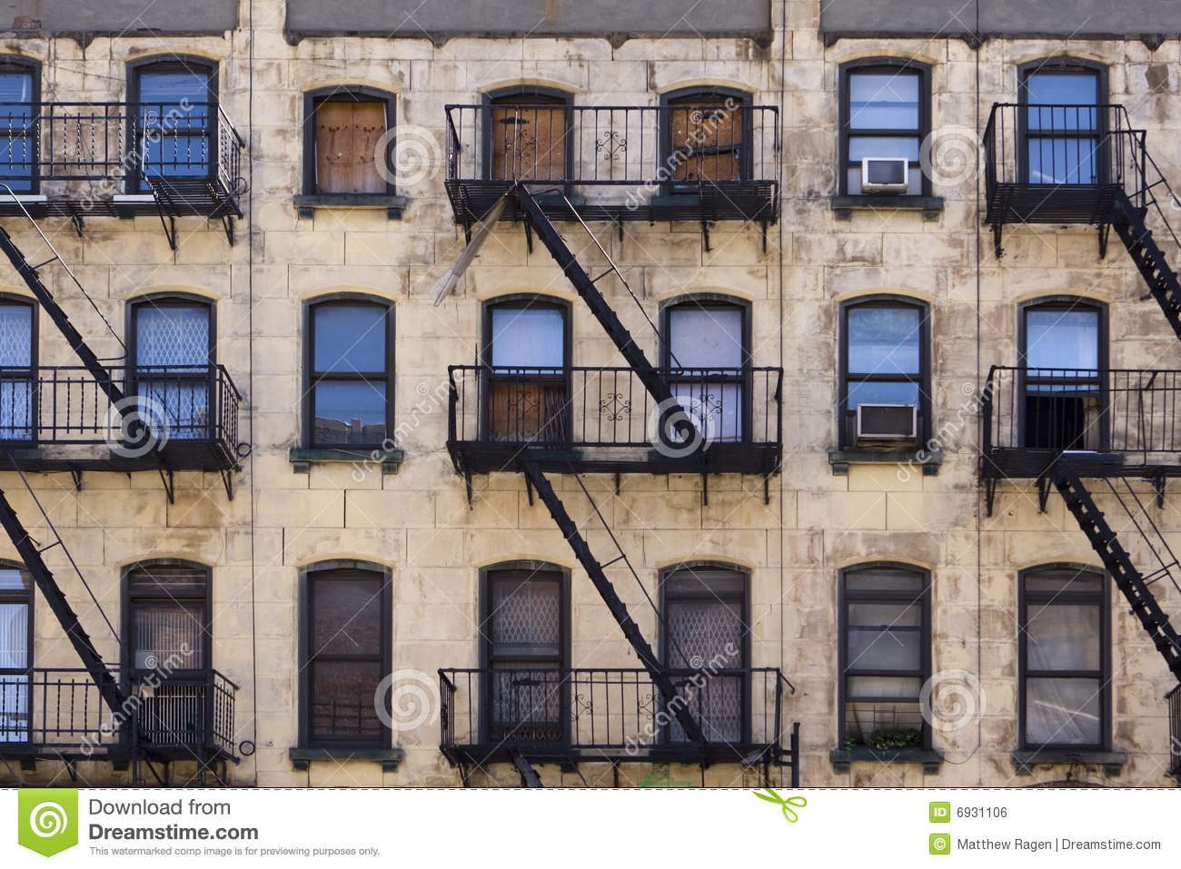 New York Tenement Building Royalty Free Stock Image