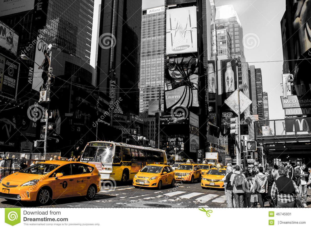 new york times square editorial photo image of fountain. Black Bedroom Furniture Sets. Home Design Ideas