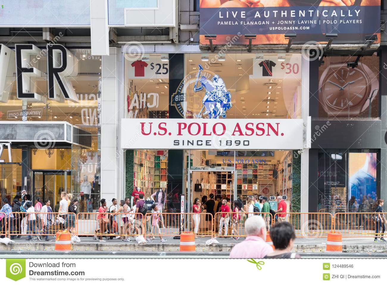 Us Polo Assn Store Clothes In New York City Editorial Photo Image