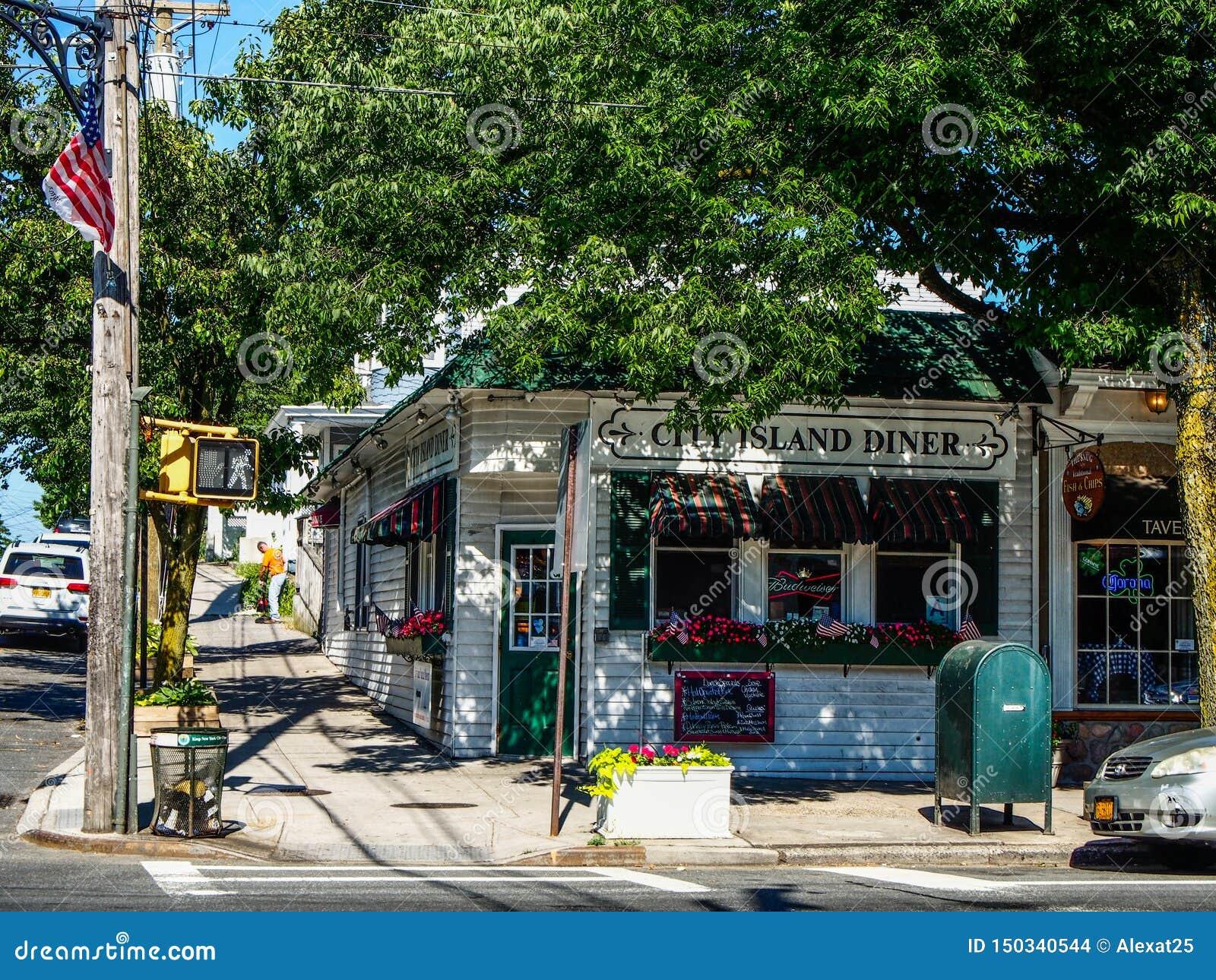 New York - United States - Street of City Island in New York - United States