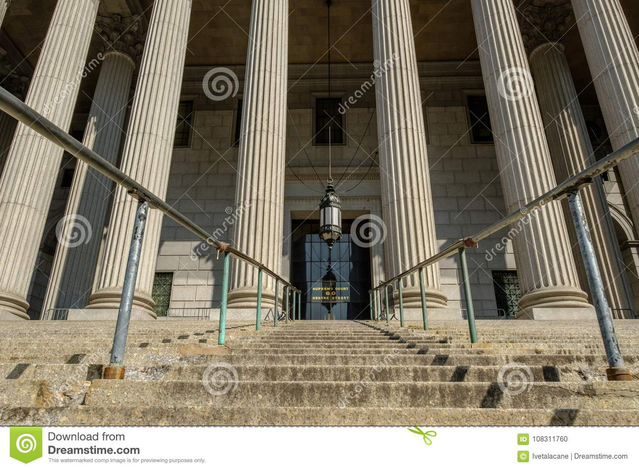 New York County Supreme Court Entrance Editorial Image
