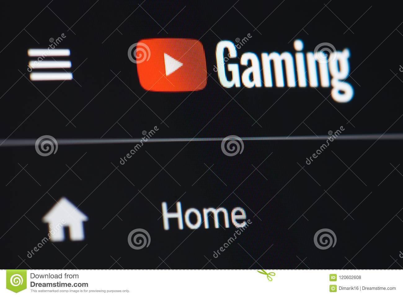 Youtube For Game Site Editorial Stock Photo Image Of Gamer 120602608