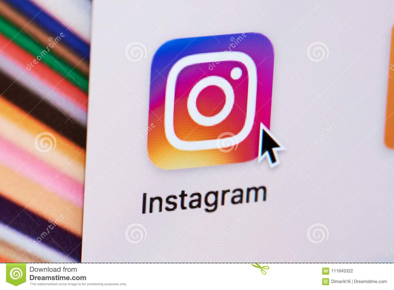 Opening Instagram web page editorial photography  Image of icon