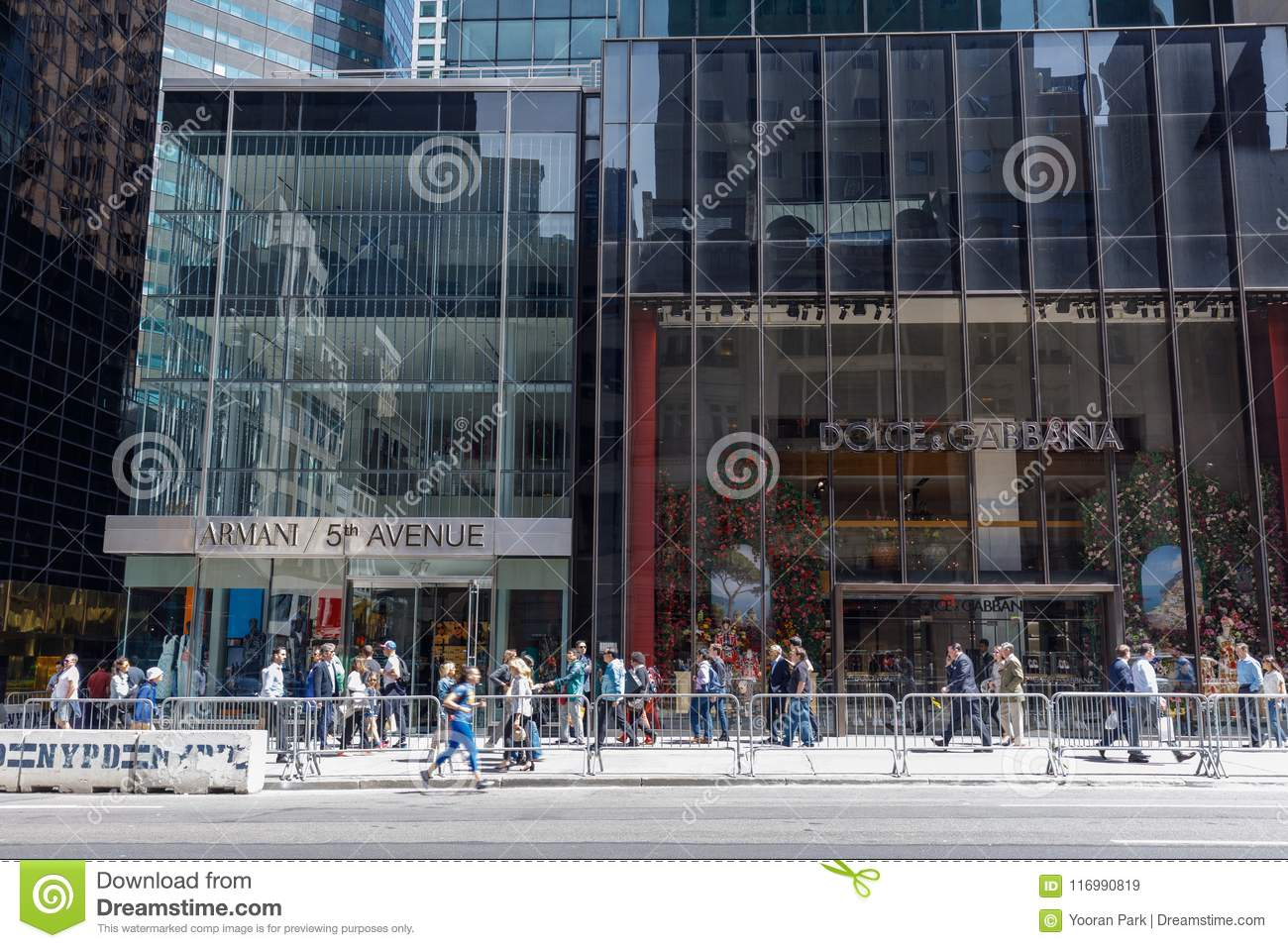 012bb402a0 New York, USA - May 12, 2018 : Dolce & Gabbana, Armani shop in fifth avenue,  5th Avenue is a central road of Manhattan, the most expensive shops and ...