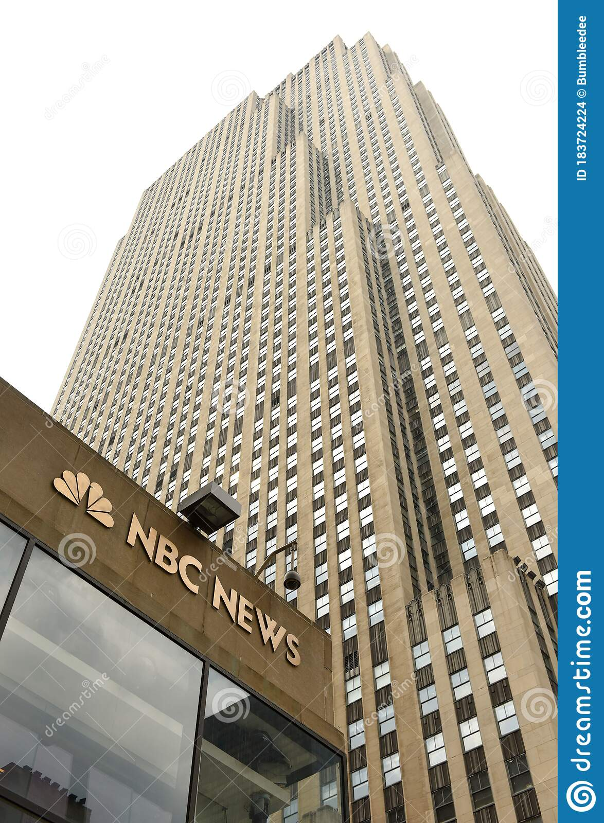 New York Usa May 26 2018 Nbc Studios In The Historic 30 Rockefeller Plaza In New York City Editorial Stock Image Image Of News America 183724224
