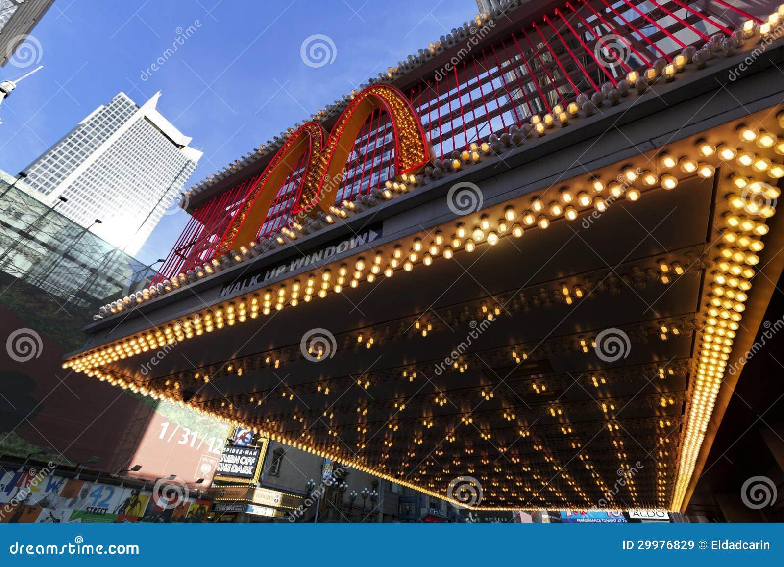 McDonald's At 42nd Street New-York Editorial Stock Image ...