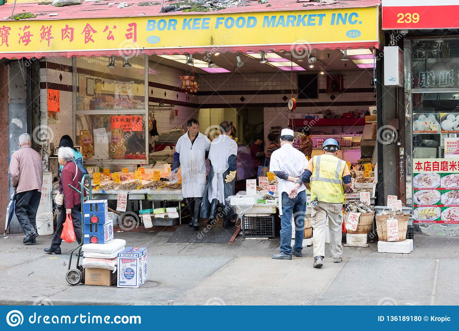 Fish Market At Chinatown In New York City Editorial Image